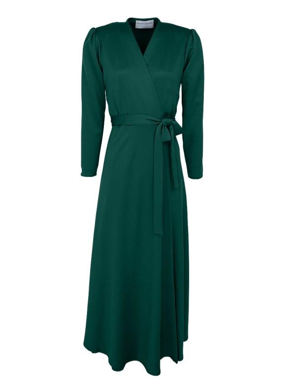 Mareth Colleen Meg Wrap Dress Green
