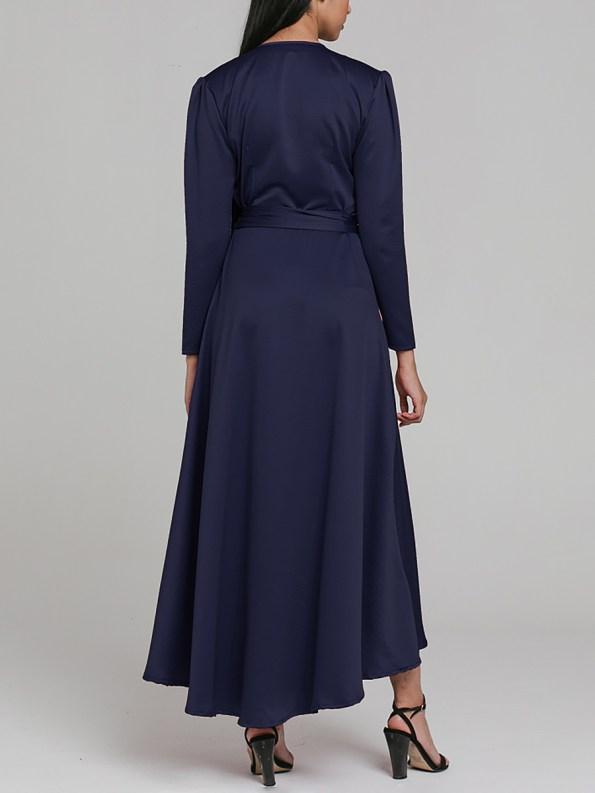 Mareth Colleen Meg Wrap Dress Navy 1