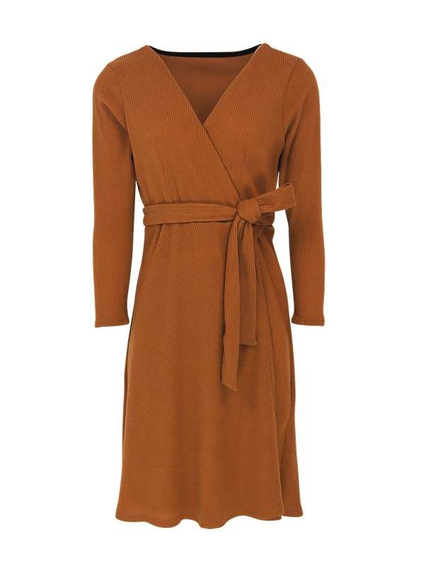 Mareth Colleen Suki Wrap Dress Camel
