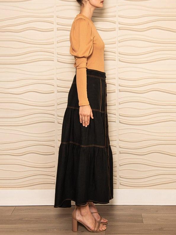 Smudj Demma Tiered Skirt Black 3
