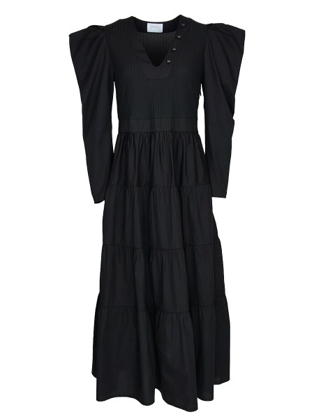 black maxi dress with puff sleeves South Africa