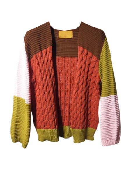 colourful cotton cardigan
