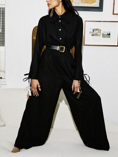 black Tencel jumpsuit