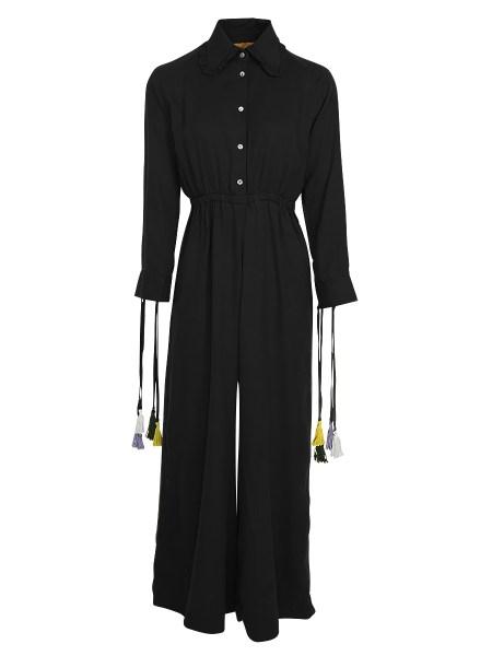 black sustainable jumpsuit womens