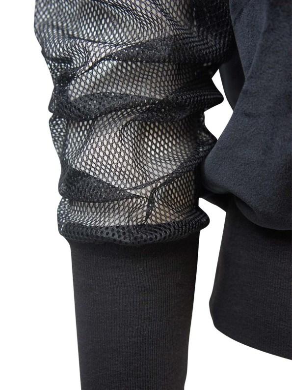 JMVB Velour & Mesh Jumper Black Detail