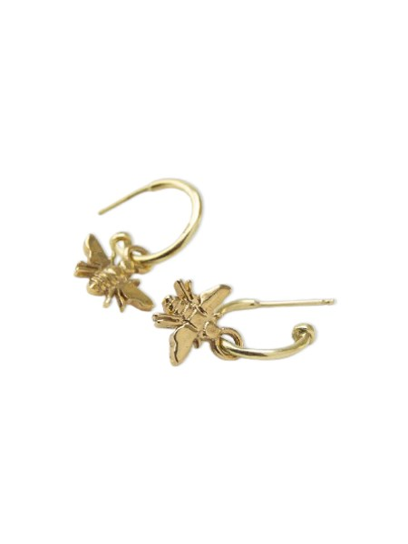 Gold earring with bees