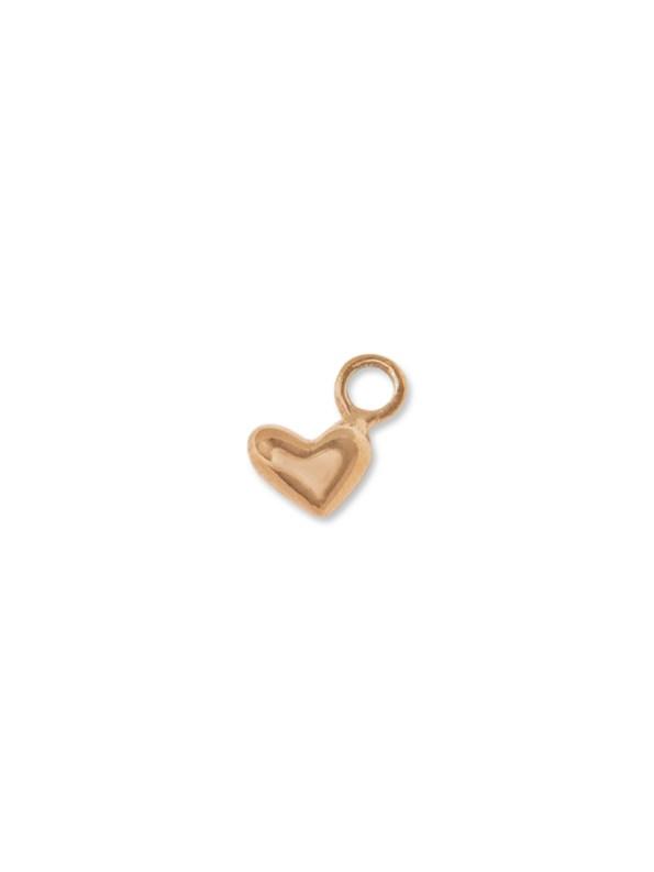 Kirsten Goss Heart Charm Rose Gold
