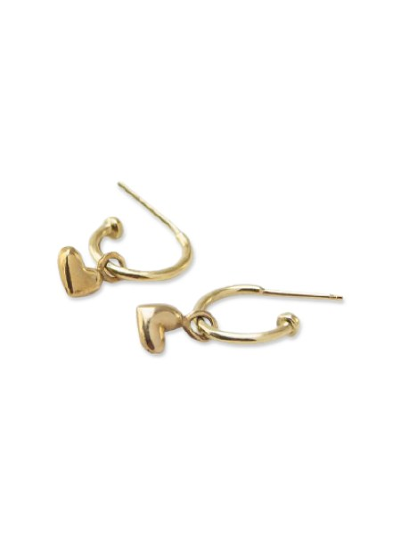 Gold earrings with hears South Africa