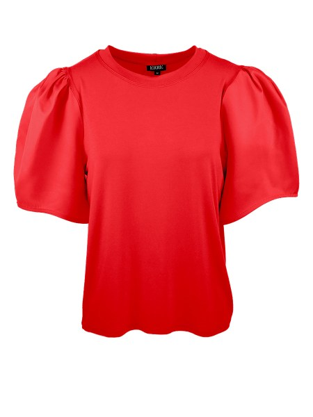 Red puff sleeve top t-shirt