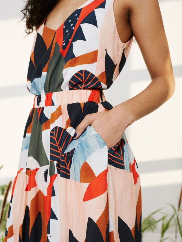 Good Classic Cami and Bask Skirt Tropical Collage 4