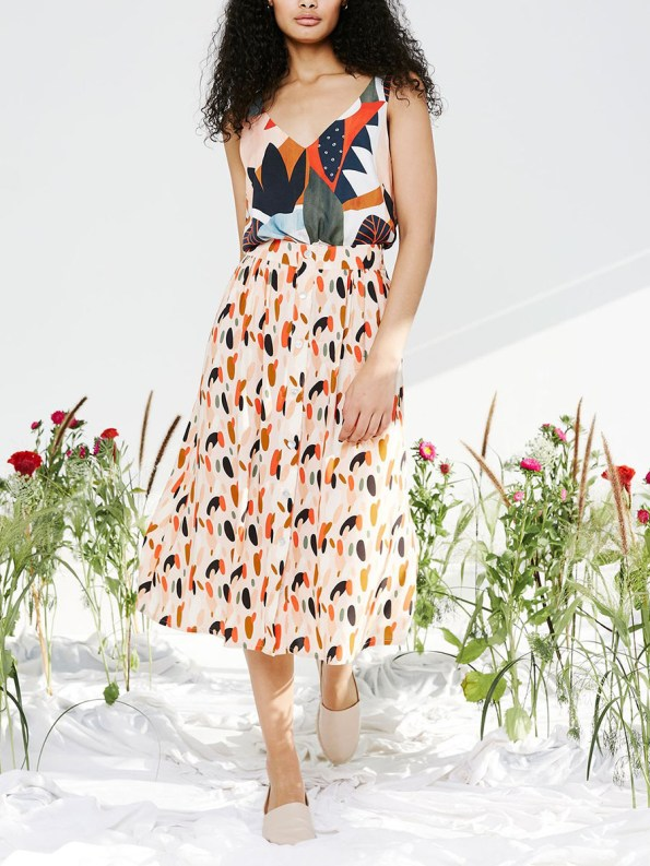 Good HW Skirt pink dot with Classic Cami