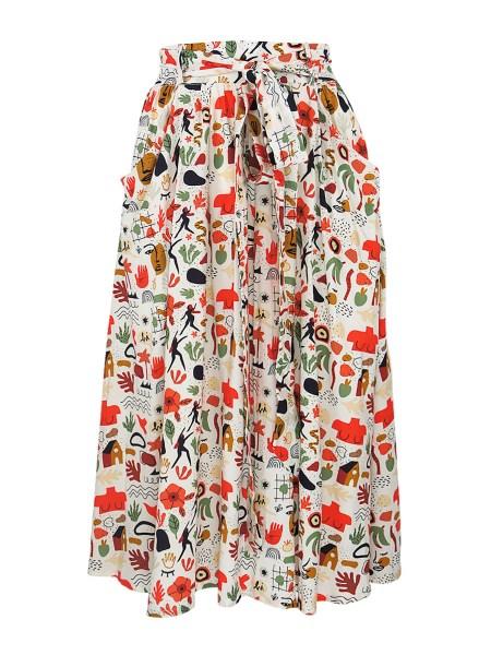 printed summer skirt