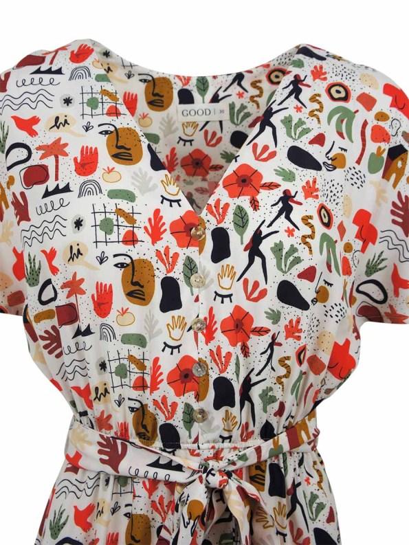Good Wren Dress Ditsy Dance Closeup