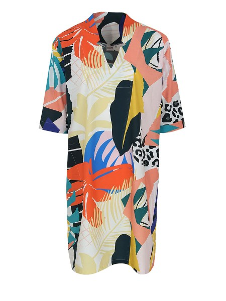 printed tunic dress floral