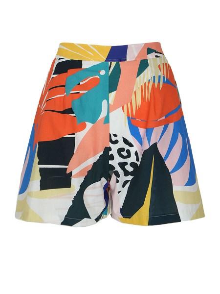 printed womens shorts
