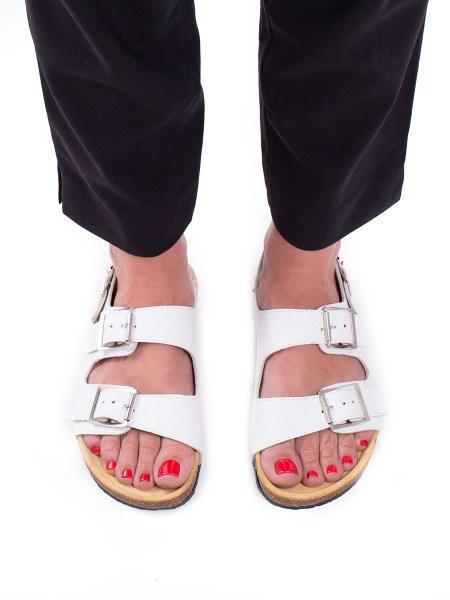 birkenstock-style sandals white