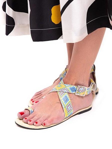 multi-colour sandals