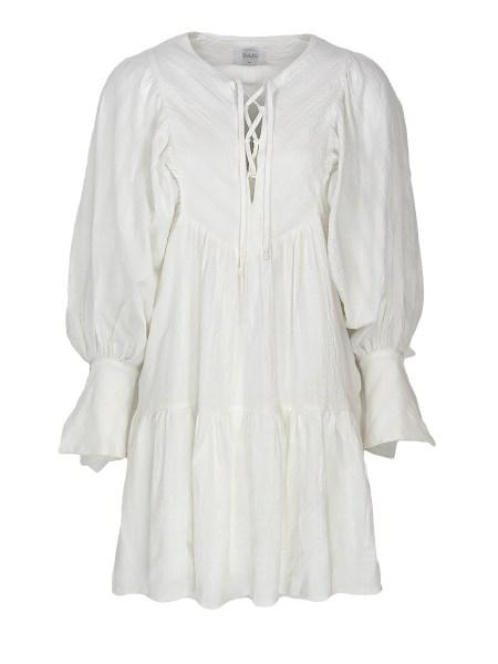 short ivory cotton dress