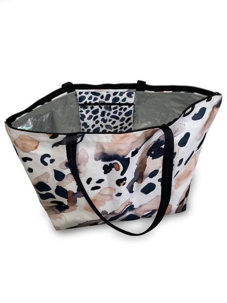 leopard print beach bag