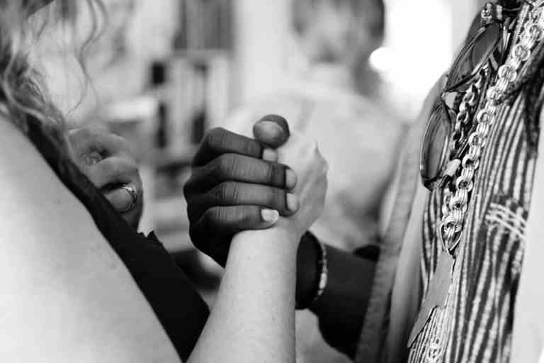 Verbinding Vertrouwen Delen Steun Vriendschap Liefde Connectie Praten Vasthouden