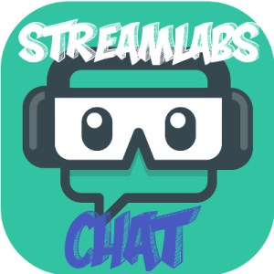 Example of Twitch Stream Chat Source - how to use OBS Software - Streamlabs logo