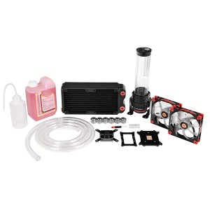 Example of Water Cooling vs Air Cooling vs AIO Cooler -ThermalTake water cooling kit