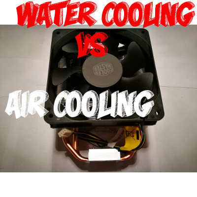 Example of Water Cooling vs Air Cooling vs AIO Cooler