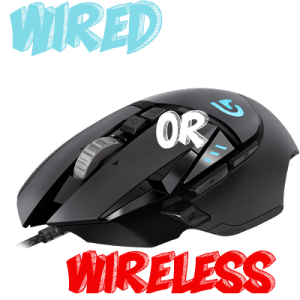 Example of Wired vs Wireless Gaming Mouse - Logo