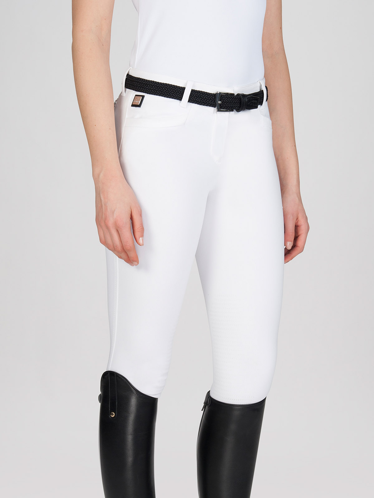 ASH Women's Riding Breeches with X-Grip Knee Patch in white