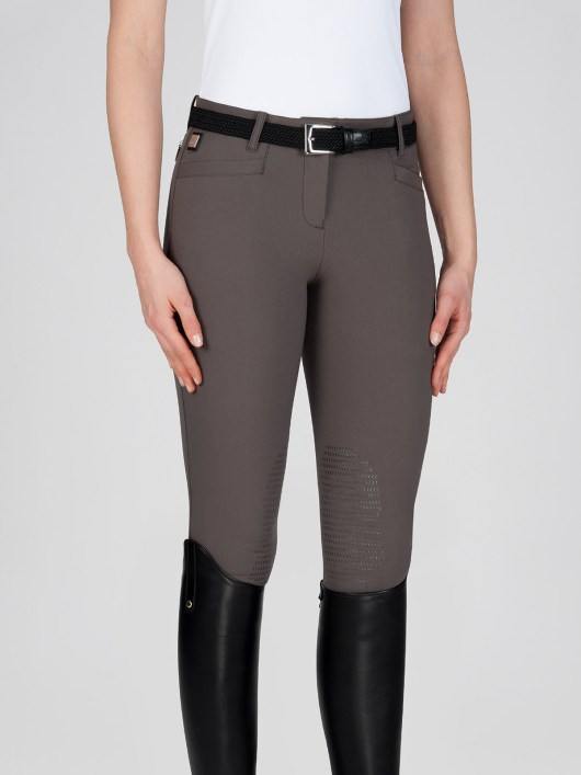 ASH Women's Riding Breeches with X-Grip Knee Patch in marsh