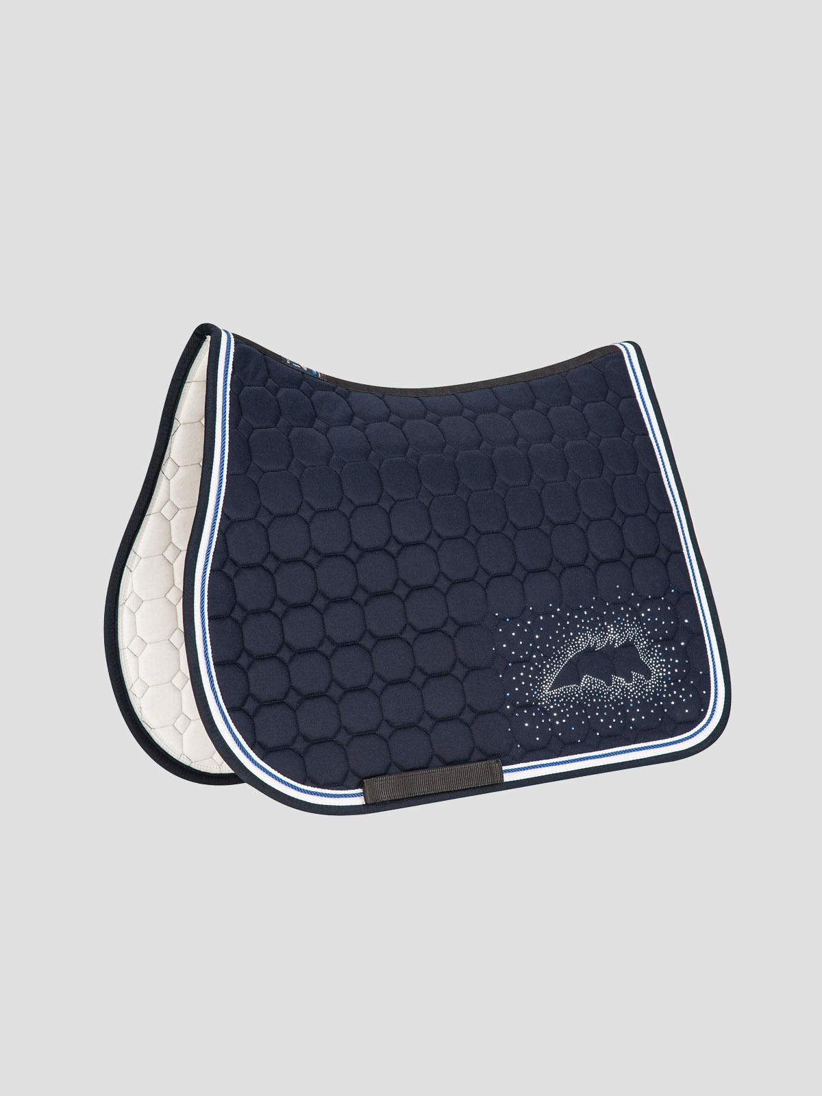 JOYCE - Octagon Saddle Pad with Equiline Logo and Studs 3