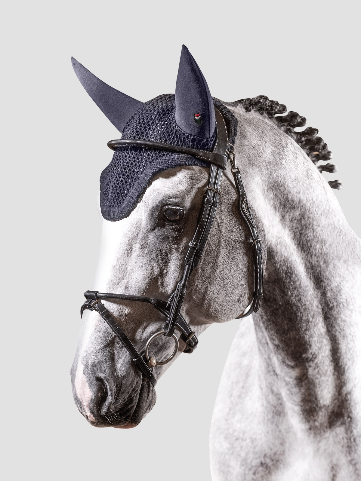 Equiline Gerald soundproof ear bonnet in blue