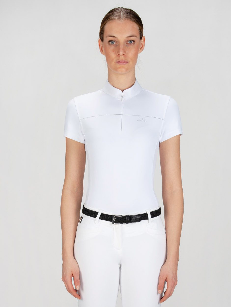 CATHERINE - Women's Show Shirt w/ Silver Detail 1