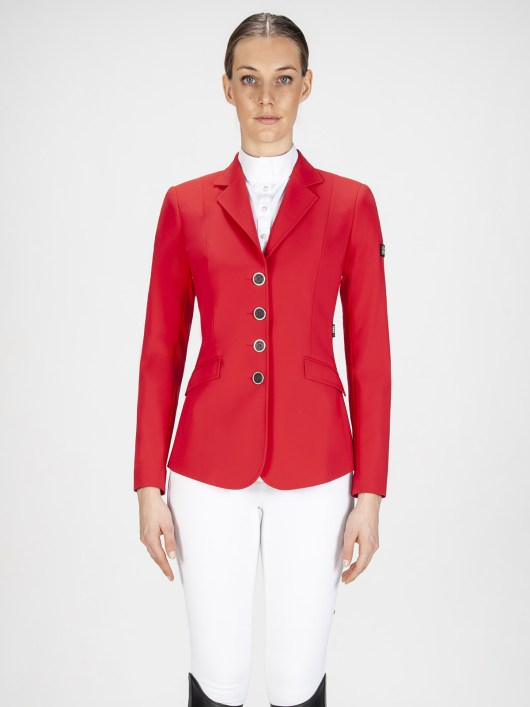 Gait women's show coat in X-Cool Evo performance fabric red