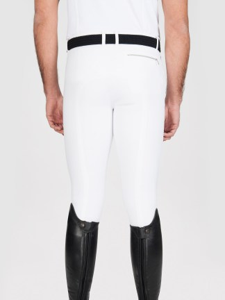 Willow men's knee grip riding breeches in white