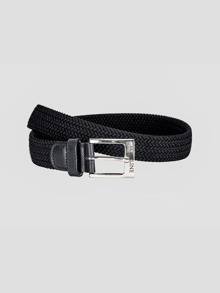 Equiline One braided elastic belt in black