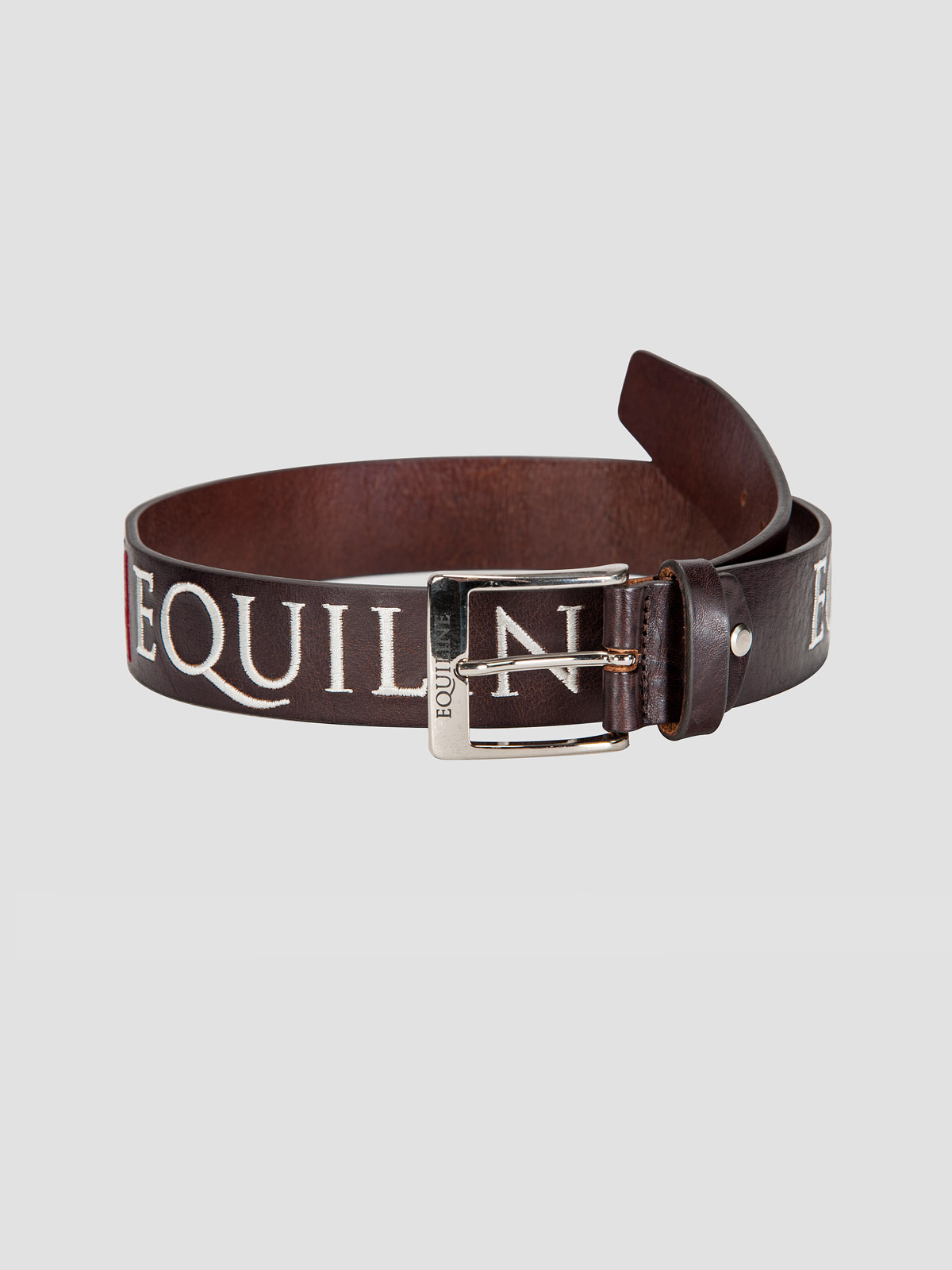 RALPH - Unisex Leather Belt with Italian Flag Embroidery 1