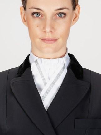 CLOE - Stock Tie with Silver Ribbon