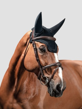 Equiline Dave soundproof ear bonnet with square edge in black