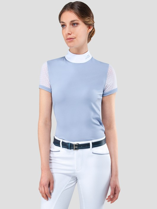 ELLA WOMEN'S SHOW SHIRT WITH TRANSPARENT SLEEVES 1