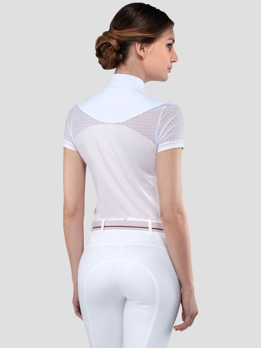 EDEN WOMEN'S SHOW SHIRT WITH DOTS TRANSPARENCY 4
