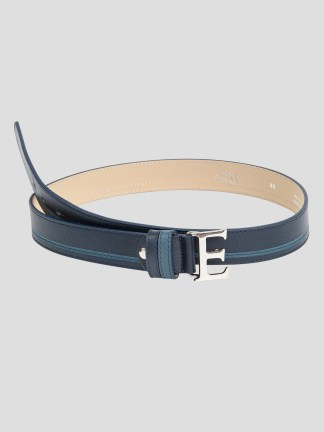 EROS LEATHER BELT WITH E BUCKLE