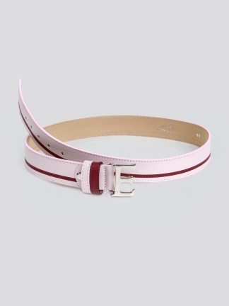 EROS LEATHER BELT WITH E BUCKLE - orchid ice, 80