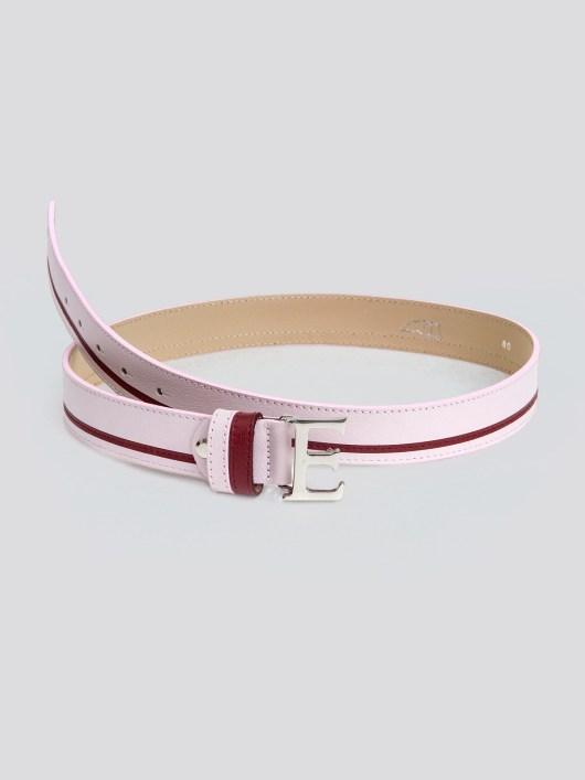 EROS LEATHER BELT WITH E BUCKLE 4
