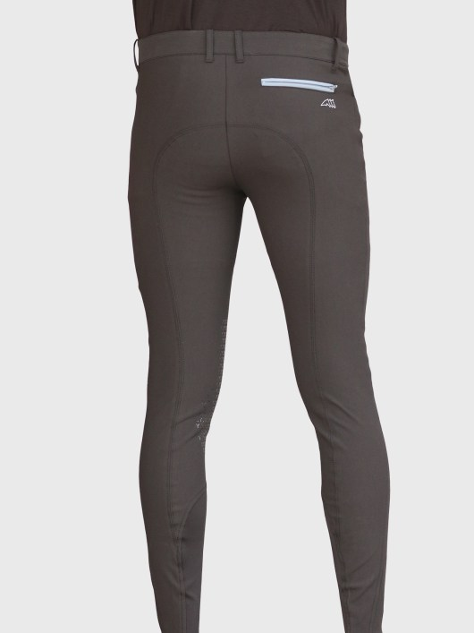 EDUARDO MEN'S KNEE GRIP BREECHES IN BLACK 3