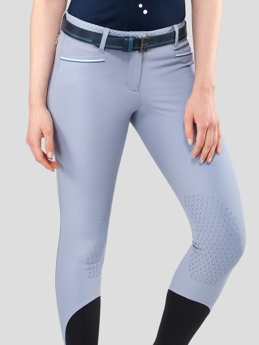 ESMERALDA WOMEN'S KNEE GRIP BREECHES WITH DOUBLE PIPING 2