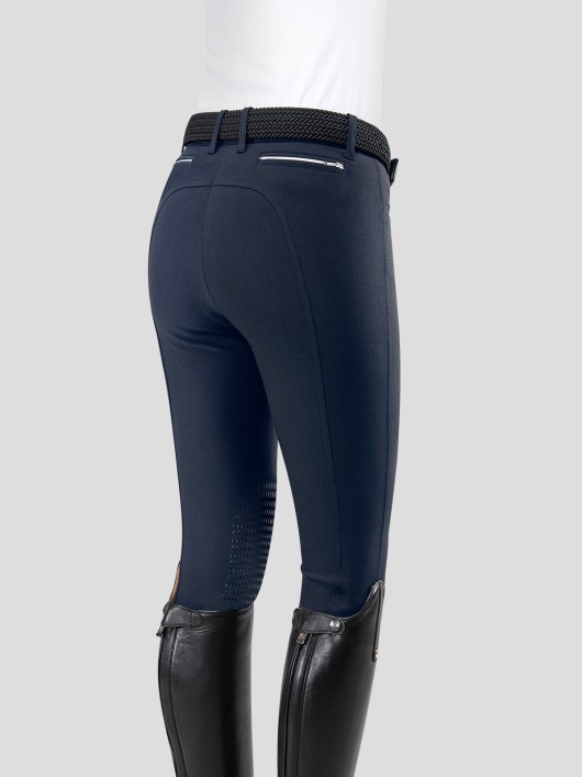 TEAM COLLECTION - WOMEN'S KNEE GRIP BREECHES WITH ITALIAN STRIPE LOGO 2