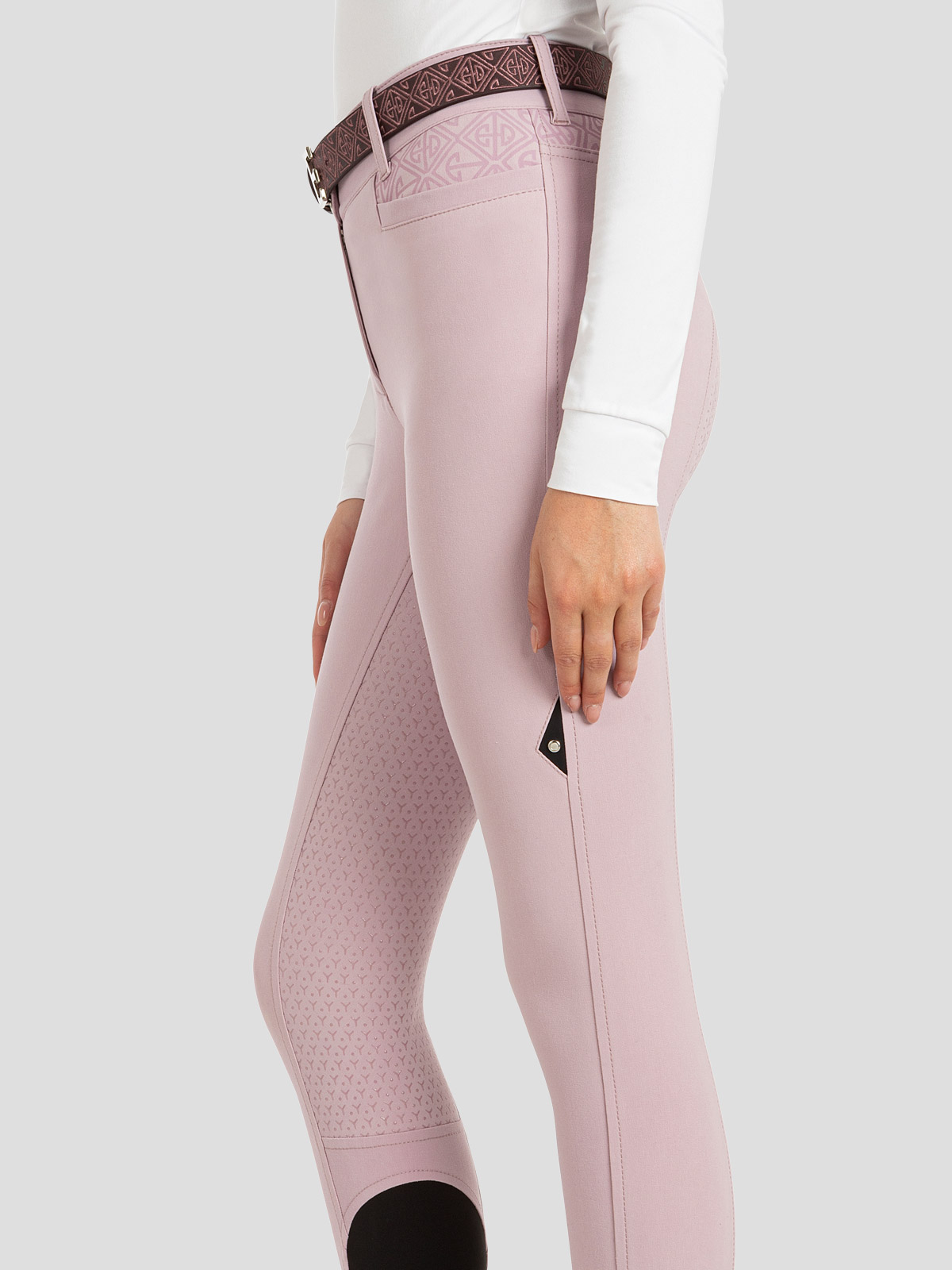 ESASHI WOMEN'S FULL SEAT GRIP BREECHES WITH LOGO PATTERN 4