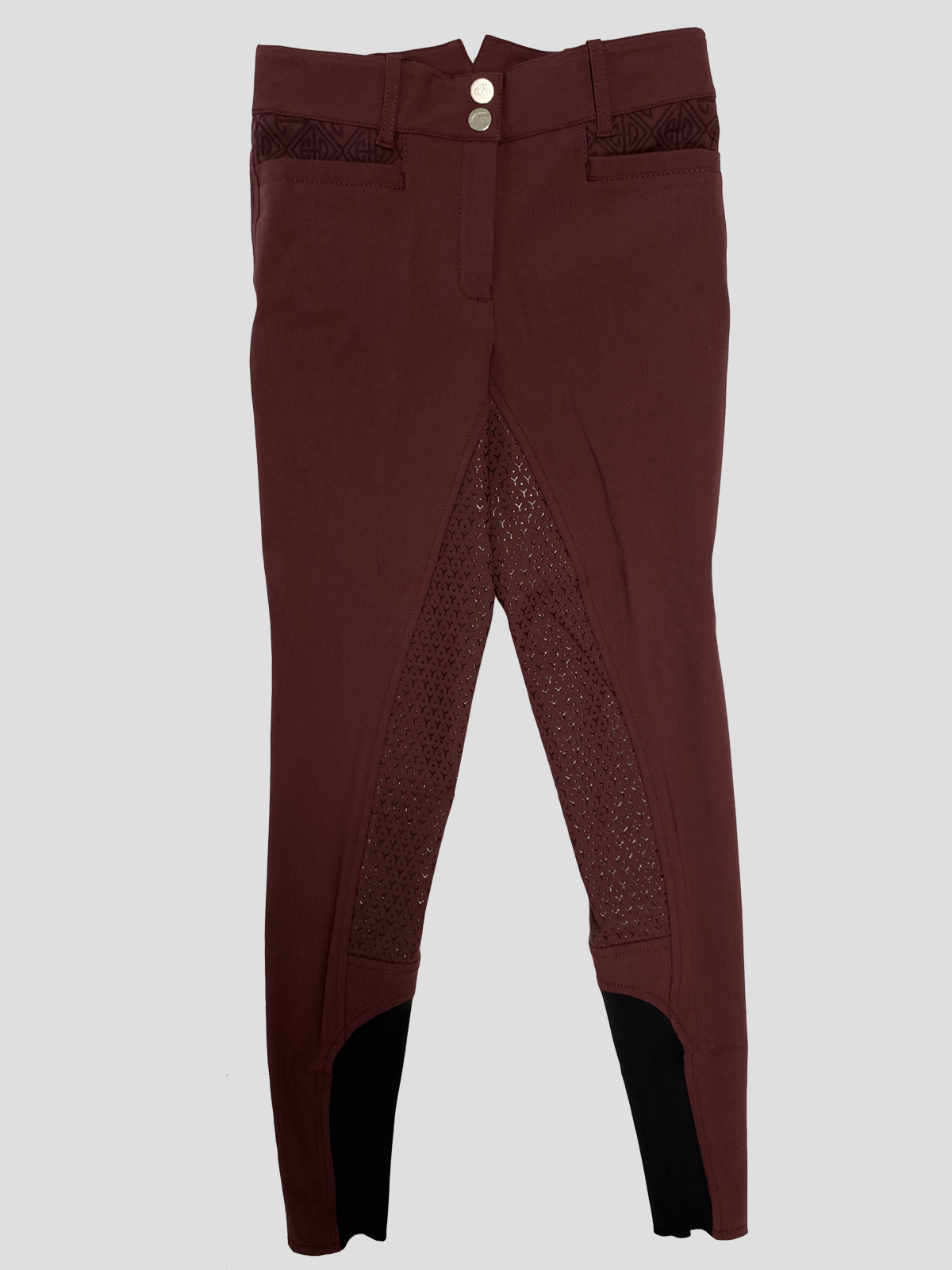 ESASHI WOMEN'S FULL SEAT GRIP BREECHES WITH LOGO PATTERN 6