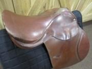 Saddle showing wear in pommel